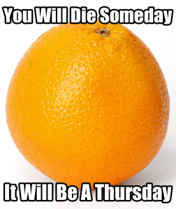 Oddly Specific Ominous Orange