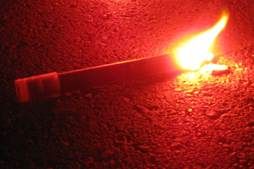 A Lit Flare