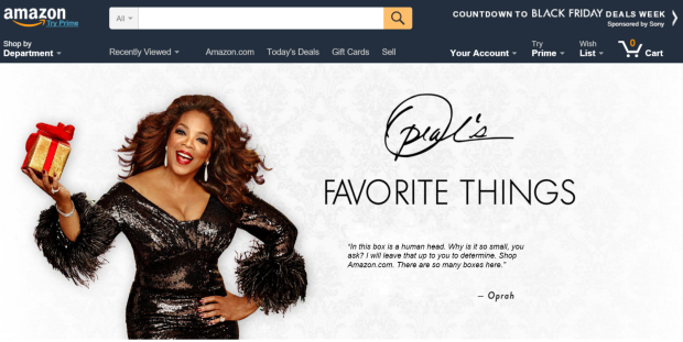 Oprah Amazon boxes
