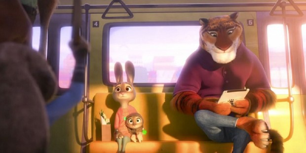 Zootopia rabbits and tiger on a bus also racism