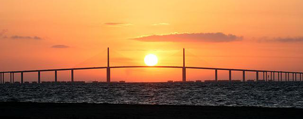 Florida Bridge Sunset
