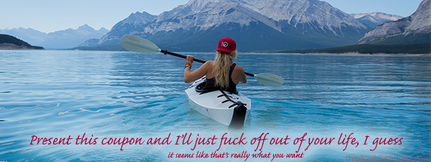 Naughty coupon fuck off kayak